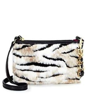 NWT Beautiful Juicy Couture Ziger Faux Fur Xbody